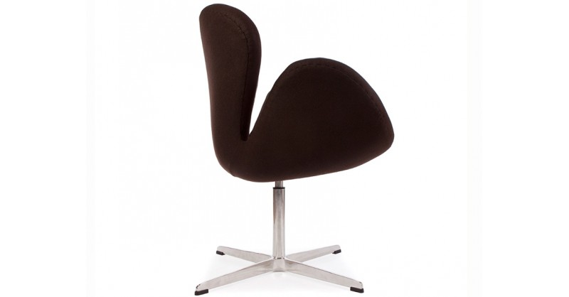 Sedia swan arne jacobsen marrone - Poltrone famose design ...
