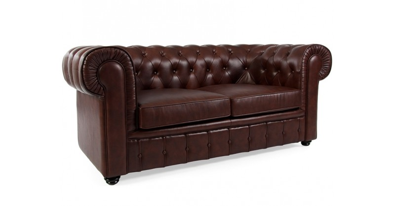Divano Chesterfield 2 Posti - Marrone