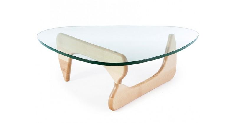 table basse noguchi bois clair. Black Bedroom Furniture Sets. Home Design Ideas