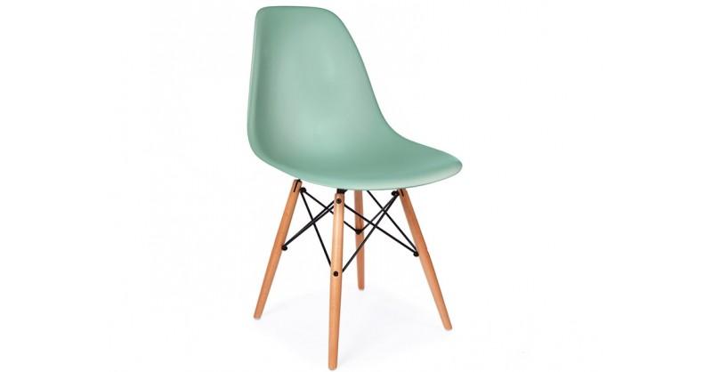 chaise eames dsw bleu vert. Black Bedroom Furniture Sets. Home Design Ideas