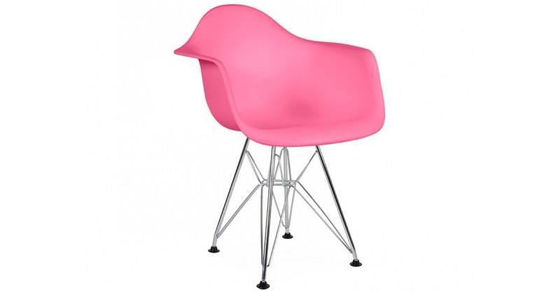 chaise enfant eames dar rose. Black Bedroom Furniture Sets. Home Design Ideas