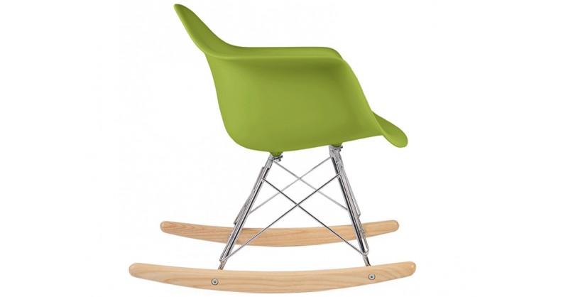 kids eames rocking chair rar green