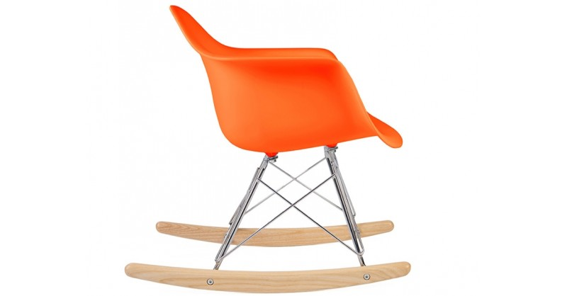 eames rocking chair rar enfant orange. Black Bedroom Furniture Sets. Home Design Ideas