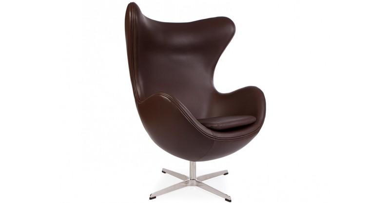 egg sessel arne jacobsen braun. Black Bedroom Furniture Sets. Home Design Ideas