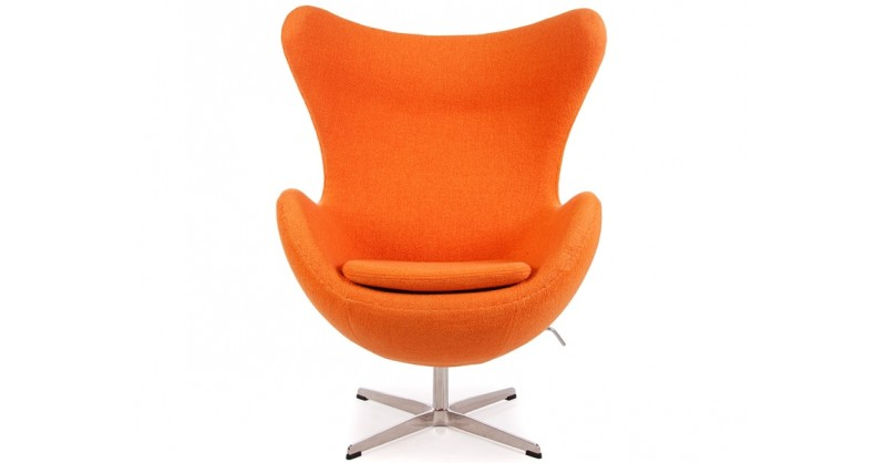 egg sessel arne jacobsen orange. Black Bedroom Furniture Sets. Home Design Ideas