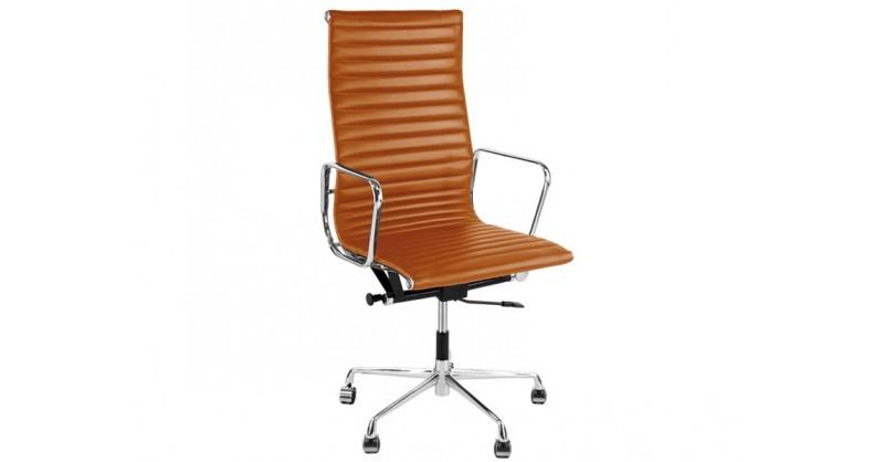 Chaise eames alu ea119 havane - Chaise de bureau eames ...