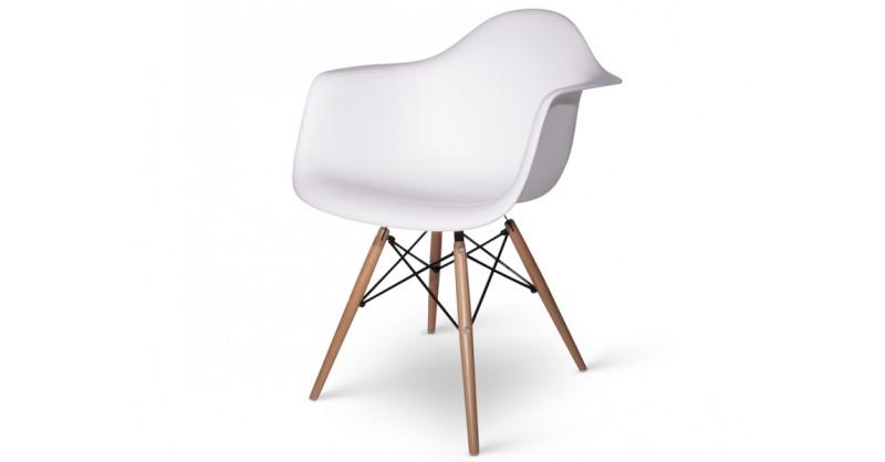 daw eames stuhl in wei jetzt als reproduktion bestellen. Black Bedroom Furniture Sets. Home Design Ideas