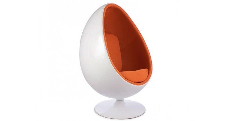 fauteuil egg ovale orange. Black Bedroom Furniture Sets. Home Design Ideas