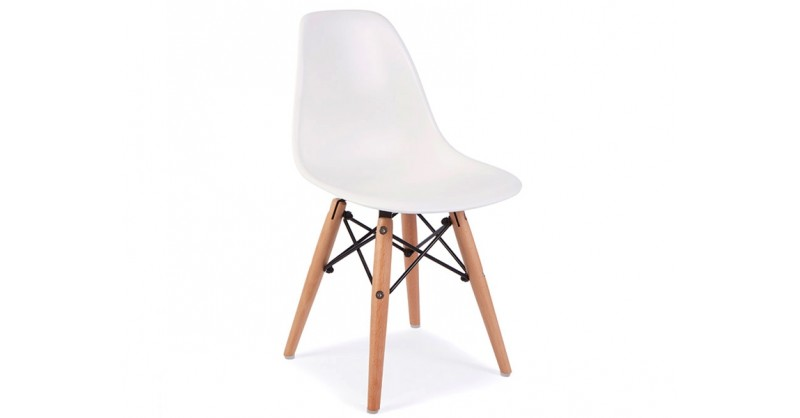 Chaise enfant eames dsw blanc for Eames chaise enfant