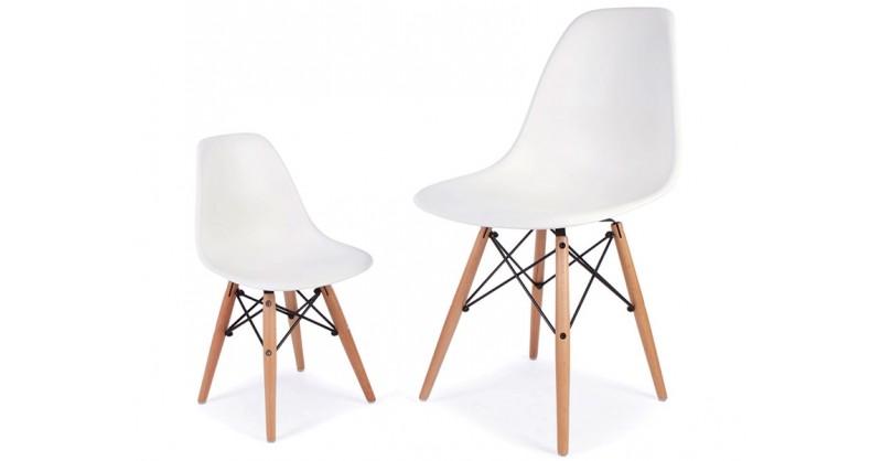 chaise enfant eames dsw blanc. Black Bedroom Furniture Sets. Home Design Ideas