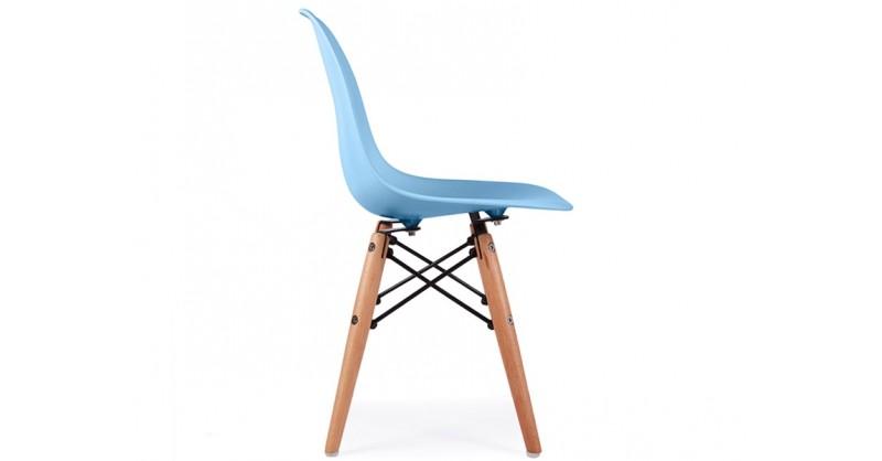 Chaise enfant eames dsw bleu for Chaise eames bleu canard