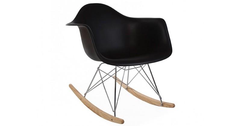 Rar Rocking Chair Charles Et Ray Eames Noir Mobilier Design Pas Cher