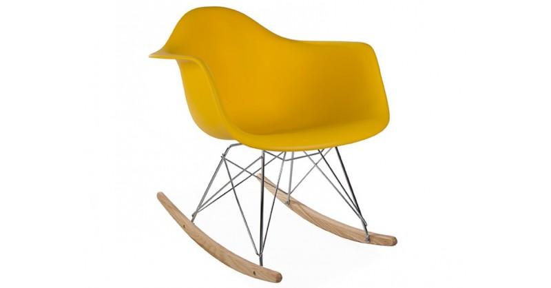 eames schaukelstuhl rar gelbsenf. Black Bedroom Furniture Sets. Home Design Ideas