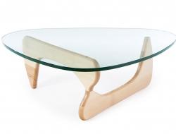 image du mobilier design table basse noguchi bois clair
