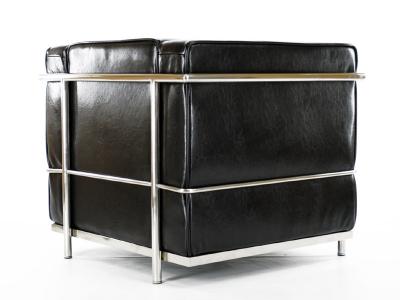 lc2 sessel lecorbusier schwarz gl nzend. Black Bedroom Furniture Sets. Home Design Ideas
