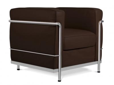 Lc2 poltrona le corbusier marrone scuro - Poltrone famose design ...